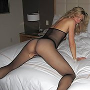 sexy milf wearing sexy black stockings