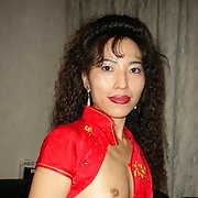 My Asian WIFE - Cindy Gaines Nice Red Dress Asian Amateur Pussy