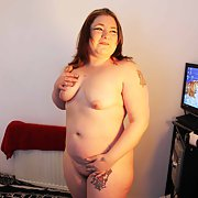 My chubby friend Vicky loves to suck cock and show off her body