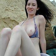 Sun water sand and a beautiful girlfriend like Anika WOW