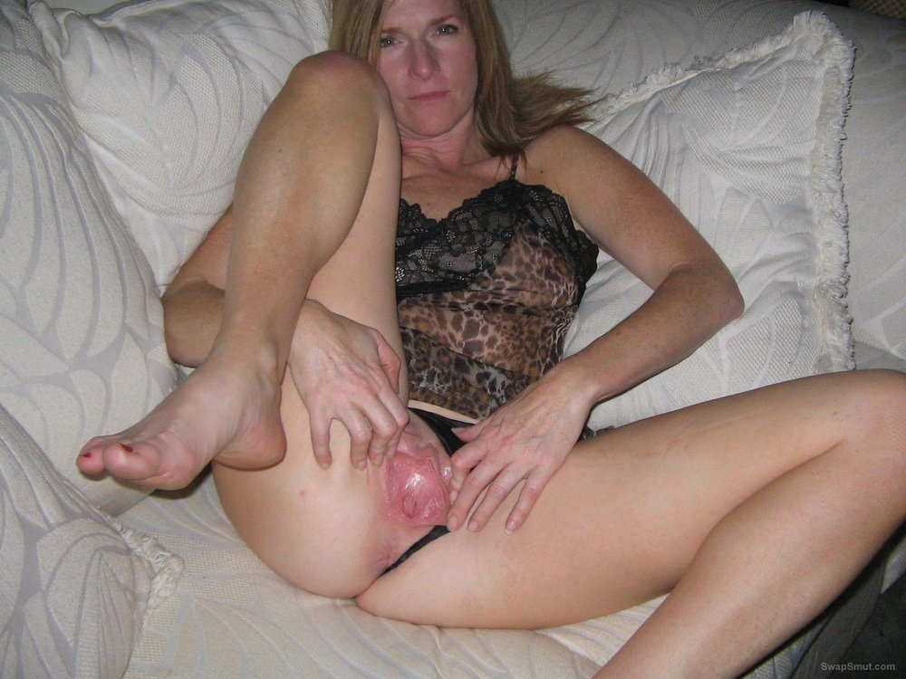 Hot MILF Wife Wide Open For All To See