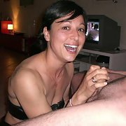 Bitch sucking my hubby's cock while I take snaps group sex swinger fun