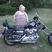 Did pics in my new back yard on a Harley Davidson