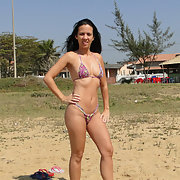 Rio de Janeiro hot slu wearing a small bikini to cover up her sexy body