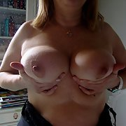 New pics of my hot and horhy wife Maggy grabbing her big tits