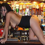 A day at the pub just for you guys and gals serving beer topless