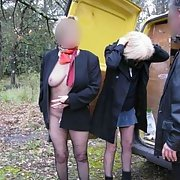 Two mature French sluts having fun in the country