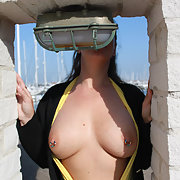 First time outside this year flashing exhibitionist amateur pictures