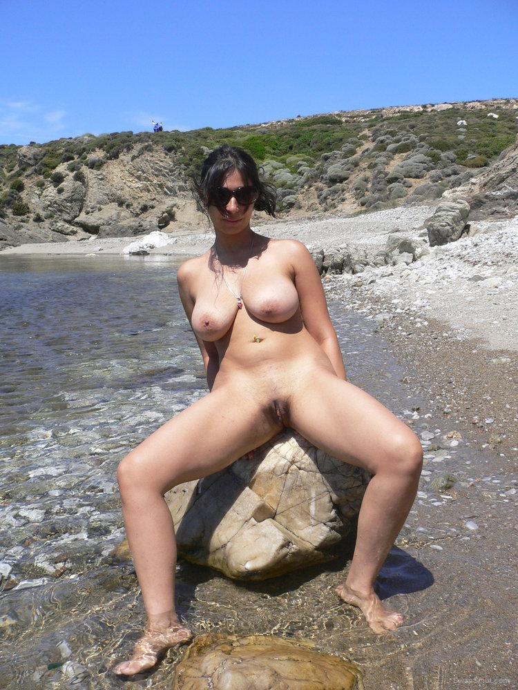 Wife naked beach