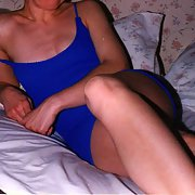 me in blue lounging around in a short dress