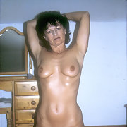 Yvonne shaved her pussy for you nude showing everything off