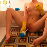 Stunning young wife posing for her man what a horny beauty