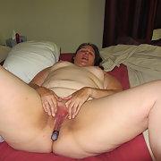 BBW amateur masturbating with a vibrator having fun on my own