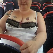 Flashing my big tits on the local bus today had to be very careful