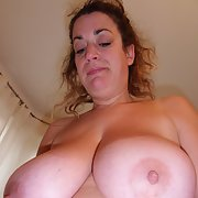 my wife's 34G tits she loves to show them off
