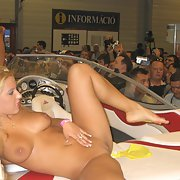 More hot girls showing off their gorgeous bodies at a wild boat show