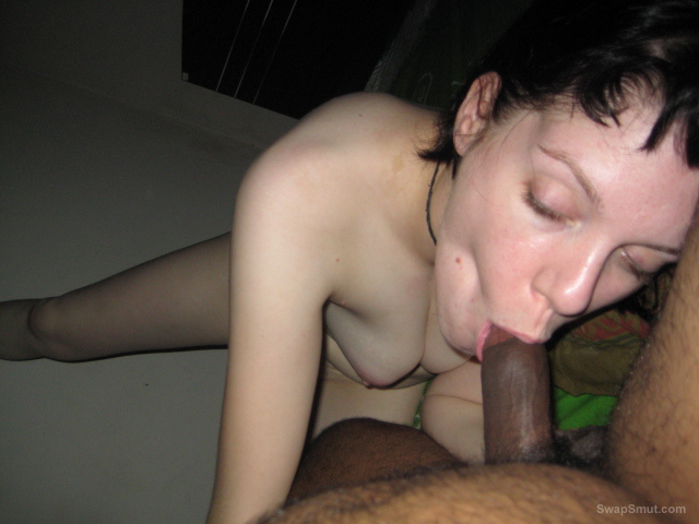 My SLUT wife Aline giving me a nasty and sloppy blowjob