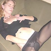 Skinny Blonde Slut for your pleasure playing with herself on sofa