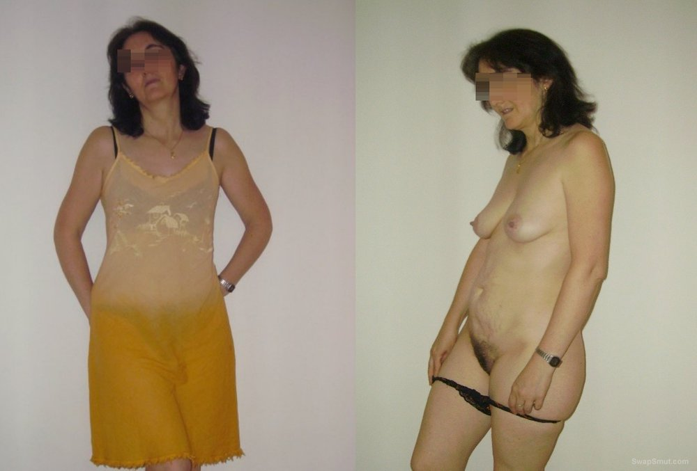 Dressed undressed, Frontal and behind wife