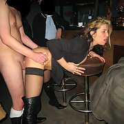 Cum slut blonde wife fucking guys in a swingers club