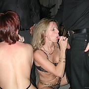 Bisexual swinger wife posing at a club and at home likes sharing dicks