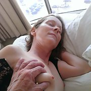 Hubby teases me and Milks my tits squeezing them