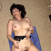 Mature Amateur Milf Living Room Floor Spread