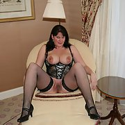 Our Irish friend Claire likes to show milf wearing lingerie