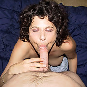 Lusy Sucks on Cock During Her Daily Routine Busty Milf Homemade Porn