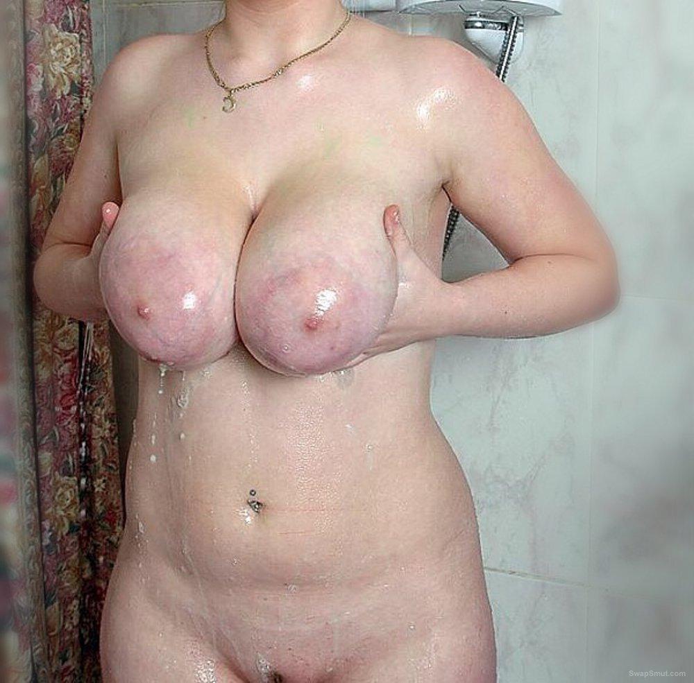 Think, blonde girl masturbating in shower