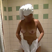 Dropping white bath towel to reveal freshly showered body for you 2