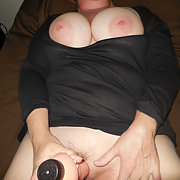 My horny wife with huge tits for your pleasure