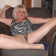 Stunning mature friend wearing stockings she is a true slut