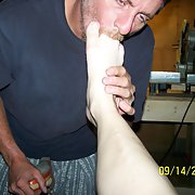 Never to old to fuck in the garage having toes sucked by hubby