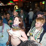Mardi Gras lovelies baring all public exhibitionist flashers boobs