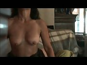 Lovely hot wife fucks and cums hard on couch sex fuck
