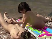 Sex in public on the edge of a lake recorded by secret voyeur cam