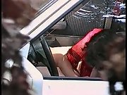Prostitute parked car sucking off a punter for cheap amount of money