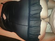 Hands and Knees, slowly fucking my cock ass view of her fucking me