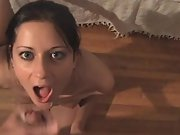 Cheating hot southern wife sucking, fucking and getting a facial from a stranger