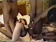 Southern gangbang white cuckold wife swinging with hung black males