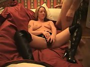Amateur MILF Fucking Her Man Ending With Facial