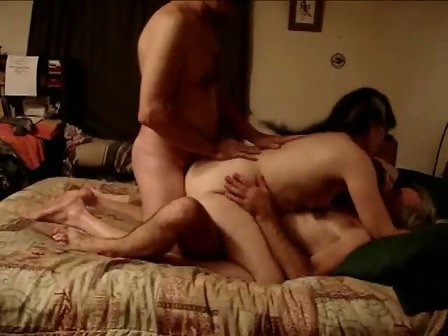 Mature Amateur DP Threesome