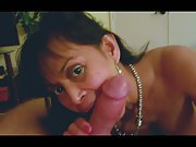 DropTopGal Asian HotWife Sucks Bull Hard After Swing Club