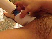 Masturbation Fun With Hitachi sex toy attachment